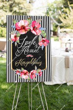 70x100 cm Düğün, Nişan, Kına Karşılama Panosu partiavm.com doğum günü süsleri ve parti malzemeleri merkezi