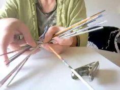 Tuto Eco Vannerie en papier : montage du fond du panier - YouTube
