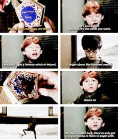 does anyone else realize that ron just told harry he has bad luck,which is constantly true in the books on forth.