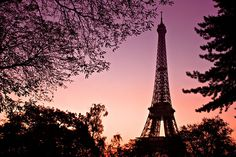 Eiffel Tower Silhouette at Dawn - Explored | Flickr - Photo Sharing!