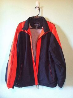 #Men's #Sports #Jacket #Medium #Black #Orange #GrayLined #Lightweight #School #Colors #Zip #Holloway #BasicJacket