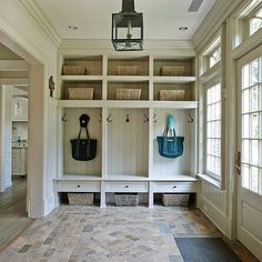 Who else is watching the Globes? Here's a winner in our book! A beautiful mudroom entry by @brooksandfalotico.