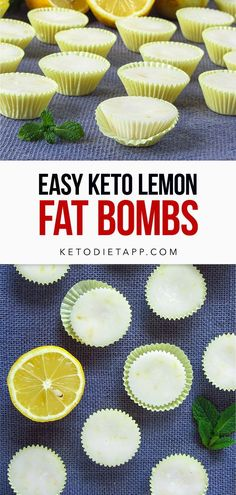 These easy four ingredient lemon fat bombs are packed with flavor and healthy fats. A tasty high-fat, keto and vegan treat! #keto #vegan # dessert #lemon #fatbombs Healthy Low Carb Snacks, Protein Snacks, Keto Snacks, Healthy Fats, Healthy Recipes, Dairy Free Keto Recipes, Primal Recipes, Sugar Free Desserts, Keto Desserts