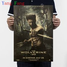 Wolverine estrela de cinema clássico poster vintage Kraft Adesivo de Parede Papel Poster Antique Home decor para sala de estar 51*35 cm