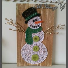 Thanks for looking. Snowman christmas String Art, Made by hand with love in NSW, Australia. Find the rest of my pictures at the following places. Find my website at www.allstrungup.com.au Find me on Instagram at https://www.instagram.com/all_strung_up/ Find me on Facebook at https://www.facebook.com/All-Strung-Up-915873695199667/?ref=hl