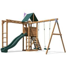 IN STOCK: best prices on Climbing Frame MonkeyFort Woodland - Playhouse Swing Set Wave Slide Monkey Bars Wooden - choose between 45 Playsets Outdoor Toys, Outdoor Play, Climbing Frame Diy, Climbing Wall, Wall Ladders, Playground Accessories, Garden Playhouse, Swing And Slide, Sports