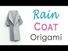Thank You For Watching This Video Channel Easy Origami Paper Rain Coat Outer