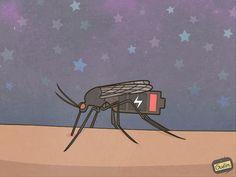 #paprika #юмор  Ночь. Самое время поставить комара на зарядку