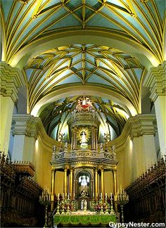 The Cathedral in Lima Peru http://www.gypsynester.com/lima-peru.htm