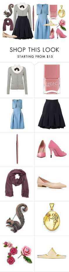 """Briar Rose"" by captainrogers ❤ liked on Polyvore featuring Relish, Nails Inc., Giorgio Armani, Oscar de la Renta, Smashbox, Fendi, Burberry, Charles David, Kevin Jewelers and Betsey Johnson"