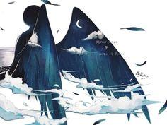 Zerochan anime image gallery for Back, Feather. Fantasy Kunst, Fantasy Art, Anime Kunst, Anime Art, Character Art, Character Design, Ange Demon, Dark Art, Art Reference