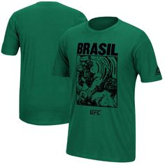 Reebok UFC 212 Brasil Mediator Mediator Weigh-In Face-Off T-Shirt - Green