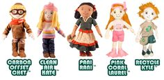 Global Green Pals - Dolls (also sold at The Green Wagon in Nashville if you're local)
