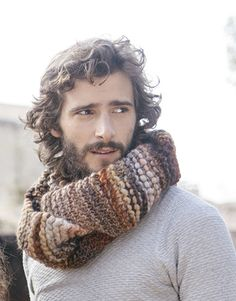 Revista principiantes 5 Otoño / Invierno   17: Hombre Cuello   Beige-Marrón-Ocre-Teja