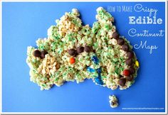 How to Make an Edible Map with Crispy Rice Cereal - Weird Unsocialized Homeschoolers