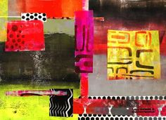 Lizzy Wurmann - I was having so much fun with my Gelli Plate but suddenly I realized I had so many papers on my workspace that I decided to make this collage. Paso2 copy