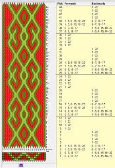 22 tarjetas, 3 colors, repite cada 12 movimientos // ramshorn12 diseñado en…