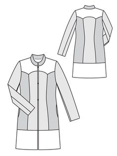 Tri-Color Coat BurdaStyle 12/2012 #138