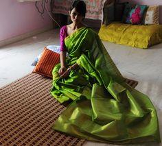 #saree #sari #india #green saree #bhang the store