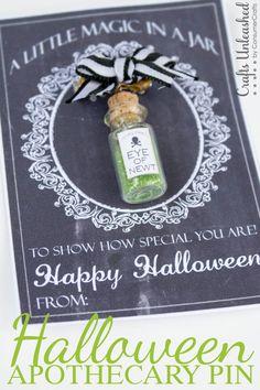 Last-Minute Halloween Apothecary Pin