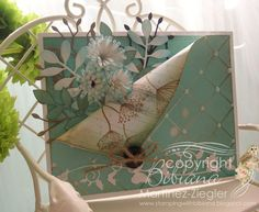 """By Bibiana #funfold card featured at """"un brin de créativité"""" my french blog for #memorybox. visit me at: http://stampingwithbibiana.blogspot.com/"""