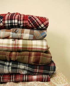 Mystery Flannel Shirt by GypsiiThrift on Etsy - perfect for cozy nights with netflix or the bo