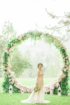Hottest Wedding Backdrop Ideas for Your Ceremony - Oh Best Day Ever romantic pink floral wreath wedding backdrop ideas Wedding Wreaths, Wedding Bells, Wedding Ceremony, Wedding Flowers, Wedding Arches, Outdoor Ceremony, Floral Wedding, Wedding Themes, Wedding Styles