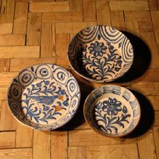 Ceramics - A late 19th century Spanish blue and white Ceramic bowl from Granada.   Spain    Circa 1890/1900.