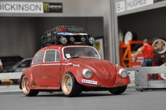 RC Car based off a modified 3-Racing Carbon Chassis for the Tamiya TT-01 but with a smaller M05 Chassis Wheelbase. Bodyshell made from clear Lexan and hand painted and detailed to look like a heap of junk. #tamiya #tamiyatt01 #rccars #vwbeetle #rcdrift #sandscorcher #rcdrifting