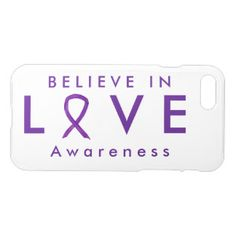 Love Purple Awareness Ribbon iPhone 7 Case