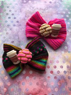 Image of Concha/Coffee Hair Bow Image of Concha/Coffee Hair Bow Handmade Hair Bows, Diy Hair Bows, Diy Bow, Ribbon Hair, Ribbon Bows, Diy Tutu, Coffee Hair, Hair Bow Tutorial, Boutique Hair Bows