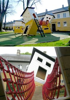 The Brumleby playground, Copenhagen. So cute!
