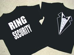 Wedding Tuxedo - RING SECURITY Tshirt -Child size Tux shirt-Ringbearer Rehearsal Shirt - super cute on Etsy, $25.00