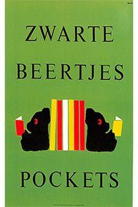 Poster by Dick Bruna - Zwarte Beertjes Pockets - May 2007 Character Illustration, Graphic Design Illustration, Book Cover Design, Book Design, Front Cover Designs, Miffy, Printed Matter, Book Jacket, Black Bear