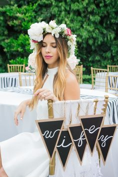 Bridal Shower Wifey Chair Signage | TrueBlu | Felicia Lasala Photography