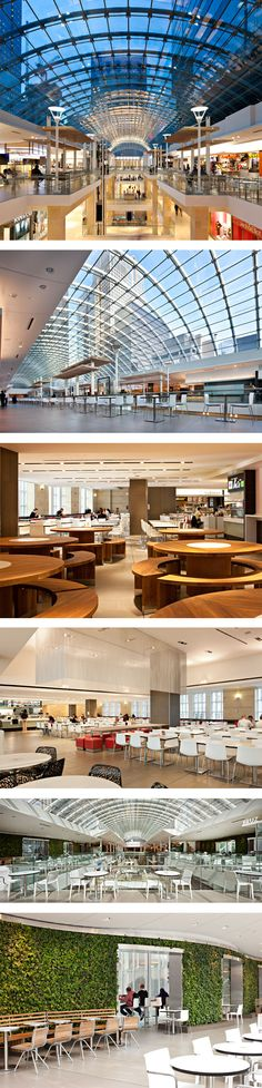 Interesting And Eclectic Food Court Designs To Keep You Engaged - Bored Art Restaurant Furniture, Restaurant Interior Design, Mall Design, Retail Design, Restaurant Concept, Cafe Restaurant, Food Court Design, Shoping Mall, Retail Architecture