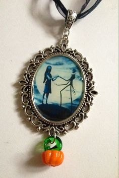 Jack Skellington and Sally Necklace Nightmare by LandAWestDesign