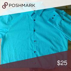 Blue Dress Shirt Light blue dress shirt long sleeve. Perfect condition, worn once. Shirts Dress Shirts