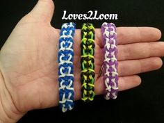 Monster Tail CLOUD CITY (Star Wars) Bracelet (reversible). Designed by Suzanne H-B @Crazyjustmightwork (Instagram). Tutorial and looming by Loves2Loom. Click photo for YouTube tutorial. 06/17/14.