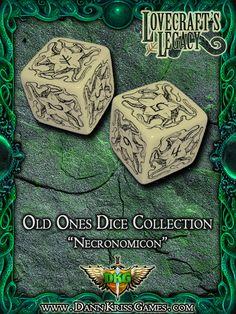 """Necronomicon"" Old Ones Dice Design"