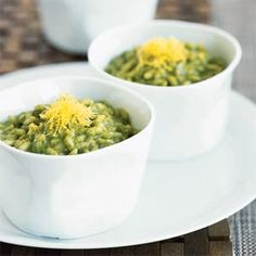 Eat Green for St. Patrick's Day  | Side Dish: Spinach Risotto with Roquefort | MyRecipes.com