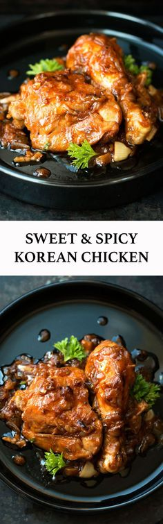 Four Kitchen Decorating Suggestions Which Can Be Cheap And Simple To Carry Out Gochujang-Sweet-Spicy-Korean-Chicken-Recipe. Duck Recipes, Turkey Recipes, Asian Recipes, Chicken Recipes, Healthy Recipes, Asian Foods, Apple Recipes, Healthy Eats, Korean Dishes