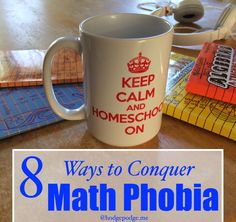 How can you deal with a fear of math if your child has it? Here are 8 Ways to Conquer Math Phobia and improve your approach to homeschooling math. Homeschool Math, Homeschooling, Logarithmic Functions, Phobias, Teaching Tips, Art Lessons, Improve Yourself, Encouragement, How To Plan