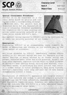 SCP-513 Document
