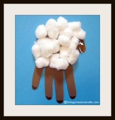 Image detail for -Your child's hand is the perfect shape to make a paper sheep craft.