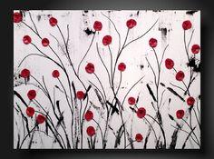 JMJARTSTUDIO Original Abstract Painting 18 X 24 by JMJARTSTUDIO. $119.00, via Etsy.