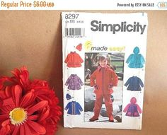 Apparel Sewing Pattern Girls Clothing Uncut Simplicity 8297