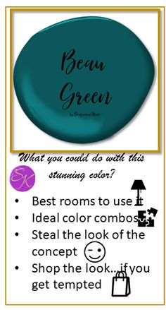 Do you love this color trend 2019 by Benjamin Moore?If so,following the promo on my site, you will get a design concept based in this stunning color, its combinations and much more. #colortrends2019,#beautifulbeaugreen,#stealthelook,, #getinspired,#benjaminmoorecolortrendsoftheyear Color Trends, Color Combos, Free Makeover, Concept Shop, Boynton Beach, 3d Visualization, First Contact, Design Consultant
