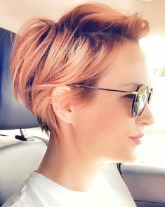 Best Short Hairstyle Ideas To Look Great In Ane Moland -You can find Products for thin fine hair and more on our website.Best Short Hairstyle Ideas To Look . Short Haircuts With Bangs, Short Hairstyles For Thick Hair, Short Hair Cuts For Women, Wavy Hair, Curly Hair Styles, Short Hair Back, Blonde Pixie Hairstyles, Thick Short Hair, Edgy Pixie Haircuts