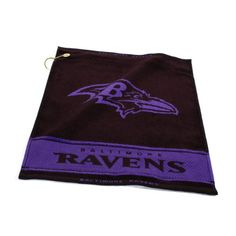 NFL Baltimore Ravens Woven Golf Towel * You can find more details by visiting the image link.